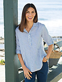 Women's Seersucker Air-Light Tunic