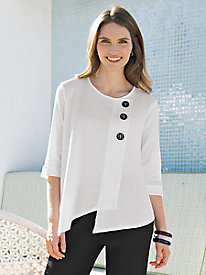 Women's Crinkly Cotton Top