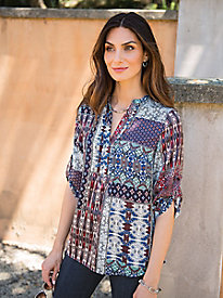 Women's Patchwork Panache Tunic