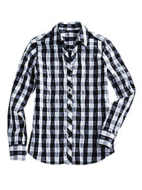 Women's Foxcroft Buffalo-Check Shirt