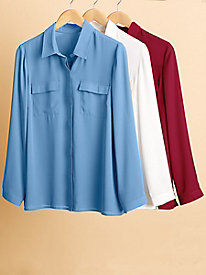 Women's Essential Utility Button-Down Shirt