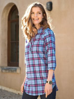 Women's Foxcroft Plaid Pullover Shirt | Norm Thompson