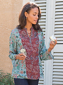 Women's Beijing-Beauty Floral Tunic