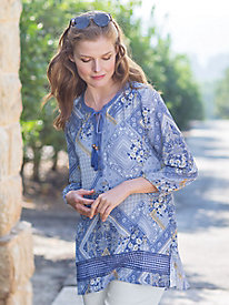 Women's Free-Spirit Print Tunic with Cami