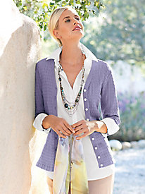 Women's Packable Silk Cardigan by Norm Thompson