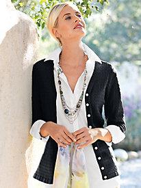 Women's Packable Silk Cardigan