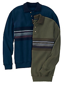 Men's Cable Fleece Polo