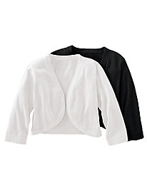Women's Cotton Bolero Sweater by Norm Thompson