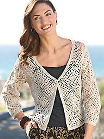 Women's Crochet Cardigan