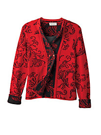 Women's Well-Red Sweater Jacket