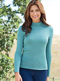 Women's Silk Mock-Neck Sweater