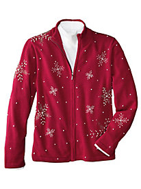 Women's Fancy Flurry Snowflake Cardigan