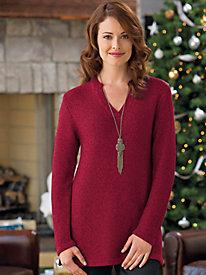 Women's V-Neck Pullover Sweater