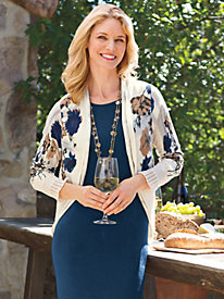 Women's Twice-as-Nice Floral Cardigan