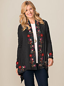 Women's Caite Embroidered Cardigan