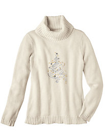 Women's Shimmer Tree Holiday Sweater