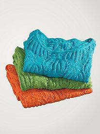 Women's Palm-Stitch Cotton Pullover