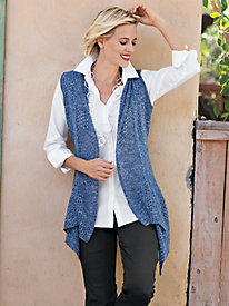 Women's Mixed Stitch Vest