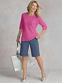 Women's Linen Cotton Sweater-Tee