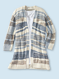 Women's Stitch Stripe Cardigan