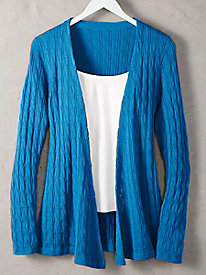 Women's Merino Wool Open Knit Cardigan