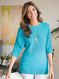 Women's Tape Yarn Pullover...