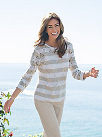 Women's Neutral Ground Striped Sweater