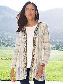 Women's Beadiful You Striped Cardigan