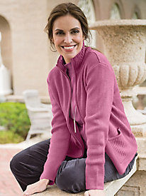 Women's Zip-Front Sweater