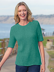 Women's Linen/Cotton Sweater Tee