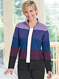 Women's InJeanious Knits Colorband Jacket