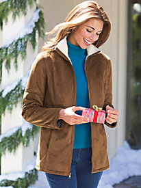 Women's Faux Suede Jacket