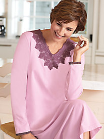 Women's Lace V-Neck Nightgown