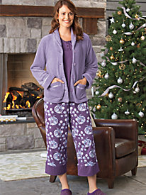 Women's Floral Capri PJs by Norm Thompson