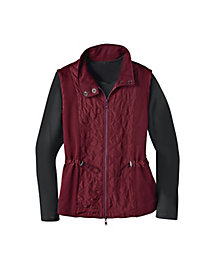 Women's Quilted-Front Vest