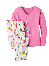 Women's Kitty Print Knit PJ Set