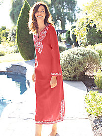 Women's Embroidered Majorca Caftan