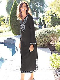 Women's Embroidered Majorca Caftan