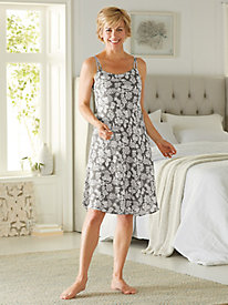 Women's Floral Jacquard Slip Gown