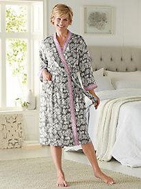 Women's Floral Jacquard Wrap Robe