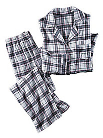 Women's Plaid Flannel PJ Set