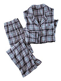 Women's Plaid Flannel PJ Set by Norm Thompson