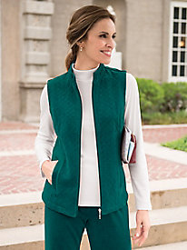 Women's Quilted Velour Vest