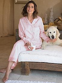 Women's Brushed-Back Satin Pajamas