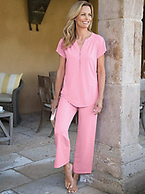 Women's Softies DriRelease Capri PJ Set