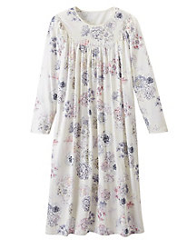 Women's Calida Long-Sleeve Floral Print Gown