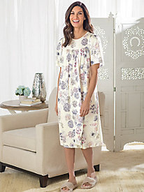Women's Calida Short-Sleeve Floral Print Gown