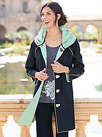 Women's Reversible Piped Parisian Raincoat