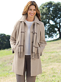 Women's London Fog Coat with Scarf