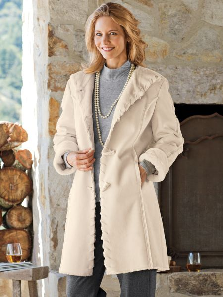Women's Faux Shearling Coat | Norm Thompson